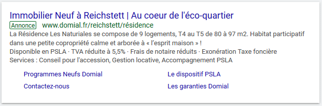 exemple annonce google Ads
